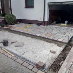 Bau einer Garageneinfahrt