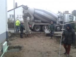 Verteilung von Zement