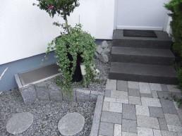 Treppe zur Eingangstür
